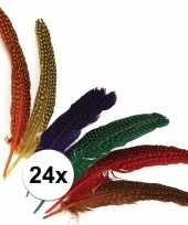 24x gestipte veren in verschillende kleuren