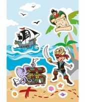 24x piraat stickertjes voor kinderen