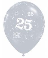 25 jaar jubileum qualatex ballonnen zilver