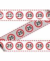 25e verjaardag markeer lint