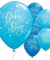 25x ballonnen babyshower jongen 28 cm