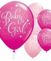 25x ballonnen babyshower meisje 28 cm