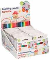 25x pakjes mini kleurpotloden 12 stuks