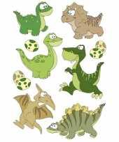 27x dinosaurussen met wiebeloogjes stickertjes voor kinderen