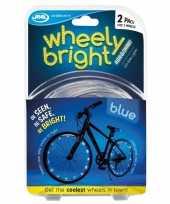 2x blauwe fietsverlichting spaakverlichting led lichtslangen