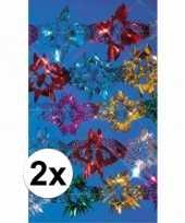 2x decoratie slinger disco 2 7 meter
