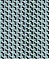 2x inpakpapier cadeaupapier grafisch 200 x 70 cm zwart blauw