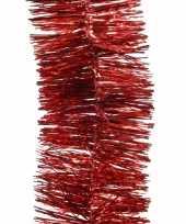 2x kerstboom folie slinger rood 270 cm