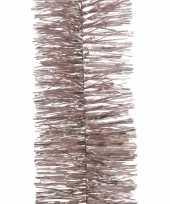 2x kerstboom folie slinger roze 270 cm