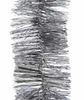 2x kerstboom folie slinger zilver 270 cm