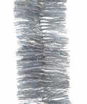 2x kerstboom glitter folie slinger zilver 270 cm