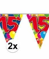 2x leeftijd slingers 15 jaar 10 meter