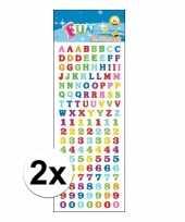 2x poezie album stickers letters en cijfers