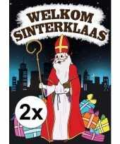 2x sinterklaas versiering poster