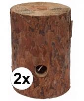 2x zweedse fakkel kaars 20 cm 10092955