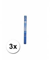 3 confetti knallers blauw 60 cm