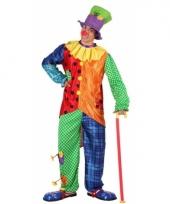 3 delig clown kostuum voor mannen