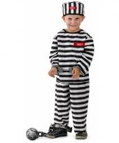 3 delig gevangene verkleed pak voor jongens