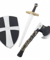 3 delige plastic ridder wapens set