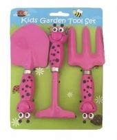 3 delige tuin speelgoedset roze voor jongens