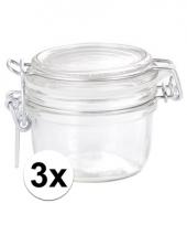 3 glazen keukenpotten 125 ml