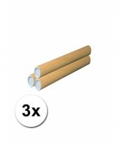3 handwerk kokers van karton 43x6 cm