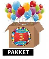 3 jaar party artikelen pakket