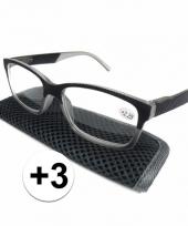 3 leesbrillen antraciet