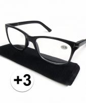 3 leesbrillen zwart