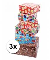 3 rollen cadeaupapier sinterklaas