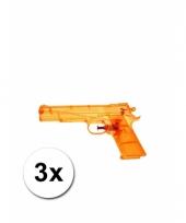 3 speelgoed waterpistolen doorzichtig