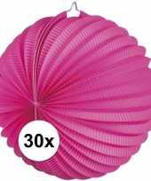 30 fuchsia roze party lampionnen
