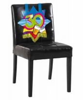 30 jaar decoratiebord voor op een stoel