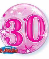 30 jaar folieballon 55 cm met helium 10089064