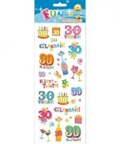 30 jaar geworden stickers