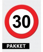 30 jaar verkeersbord versiering pakket