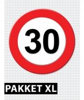 30 jaar verkeersbord versiering xl pakket