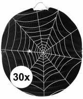 30 papieren spinnenweb lampionnen 22 cm