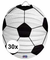 30 papieren voetbal lampions 22 cm