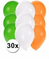 30 stuks ballonnen kleuren ierland 10087275