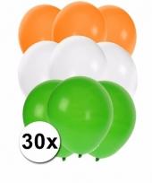 30 stuks ballonnen kleuren india 10087276