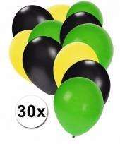 30 stuks ballonnen kleuren jamaica 10087277