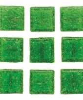 30 stuks vierkante mozaieksteentjes groen 2 cm