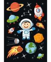 30x astronaut stickertjes voor kinderen