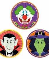 30x horror halloween versiering decoratie bierviltjes vampiertje heksje horror clowntje van karton