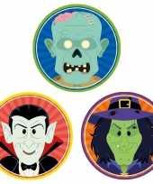 30x horror halloween versiering decoratie bierviltjes vampiertje heksje zombietje van karton