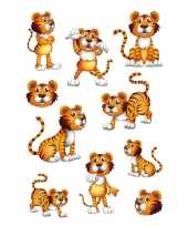 30x tijger stickertjes voor kinderen