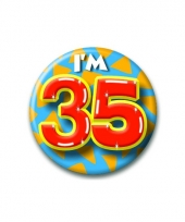 35 jaar button