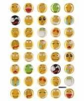 35x emoties smiley stickers op vel