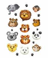 36x wilde dieren stickertjes voor kinderen